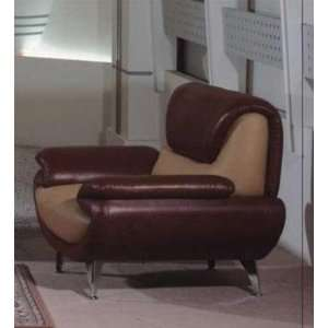 Dark Brown/Light Brown Leather Chair