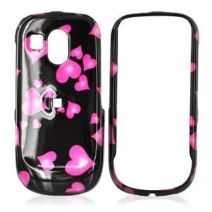 for Samsung Caliber Hard Case Skin Pink Hearts Black Electronics