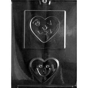 I LUV U HEART Valentine Candy Mold chocolate