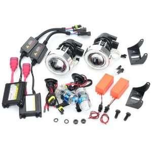 Durable HID Headlights Car Projector Lens Fog Light Kit