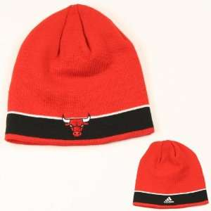Chicago Bulls Band Stripe Knit Beanie:  Sports & Outdoors