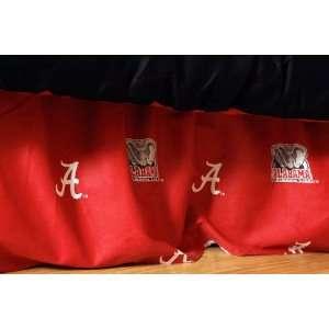 Alabama Printed Dust Ruffle Full   Alabama Crimson Tide