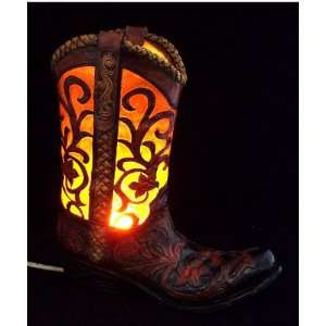 Decor Cowboy Boot Art 3D Table Lamp / Night Lamp / Night Light