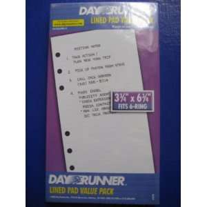 DAY RUNNER LINED PAD VALUE PACK 3 3/4 X 6 3/4 Office