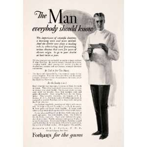 Health Pyorrhea Science Dental Uniform Anemia   Original Print Ad