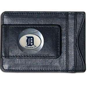 MLB Detroit Tigers Leather Money Clip & Card Holder