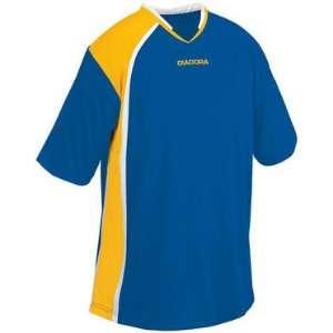 Diadora Serie A Custom Soccer Jerseys 249   ROYAL/GOLD/WHITE AXL