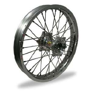 Pro Wheel MX Front Wheel Set   17x1.40   Silver Rim/Silver