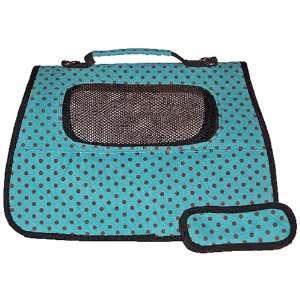 Dog Carrier   Fully Enclosed Julia Petite Polka Dot Pet Carrier