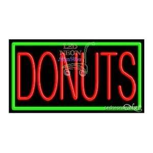 Donuts Neon Sign 20 inch tall x 37 inch wide x 3.5 inch deep outdoor