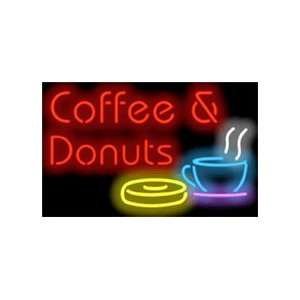 Coffee & Donuts Neon Sign Home Improvement