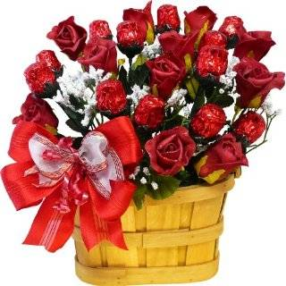 Long Stem Chocolate Red Roses Bouquet Grocery & Gourmet Food