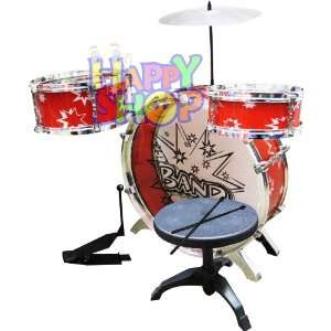 New Kid Big Band Drum Set Instrusment   RED Toys & Games