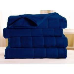 Sunbeam Fleece Electric Heat Warming Blanket Blue King