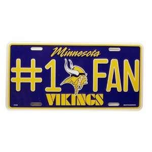 NFL Vikings Team Color Metal License Plate