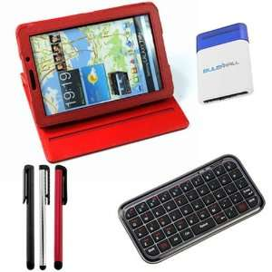 GTMax Red 360 Degree Rotating Folio Leather Cover Case