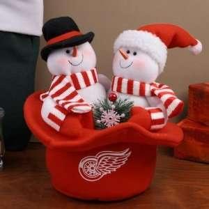Detroit Red Wings Snowmen Top Hat Plush Figurine Sports
