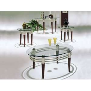 Glass Top 3pc Coffee/End Table Set Item # A08137 SET
