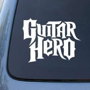 GUITAR HERO   Vinyl Car Decal Sticker #1776  Vinyl Color White
