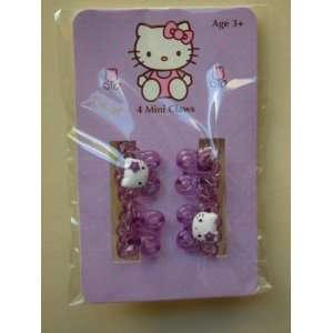 Purple Hello Kitty 4pk Hair Mini Butterfly Claws