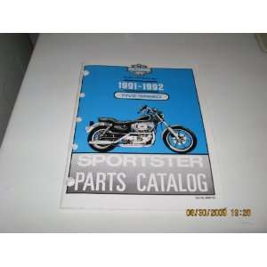 1992 Harley Davidson Five Speed Sportster Models Parts Catalog: Harley