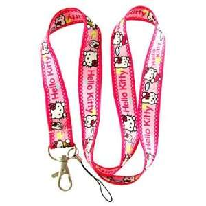 1 Pc Hello Kitty with Friend Color Pink Lanyard Keychain