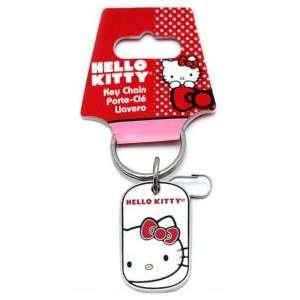 Hello Kitty Sanrio Head Dog Tag Enamel Key Chain