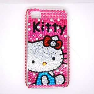 Hello Kitty pink sit down Rhinestone Bling Crystal back cover case