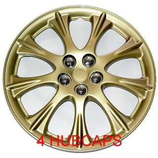 15 SET OF 4 GOLD HUBCAPS WHEEL COVERS DESIGN ARE