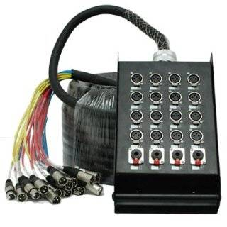 16 Channel 100 XLR Snake Cable with 4 XLR and 1/4 Returns on the Box