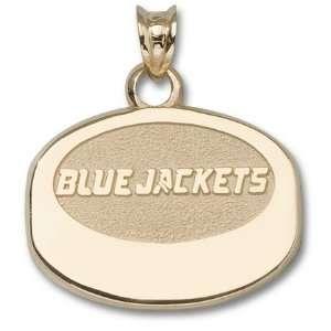 Columbus Blue Jackets Blue Jackets Puck Pendant   10KT Gold Jewelry
