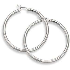 Gold Hoop Earrings   1 9/16 diameter (3mm thickness) SZUL Jewelry