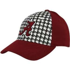 The World Alabama Crimson Tide Crimson Houndstooth Jock 1 Fit Flex Hat