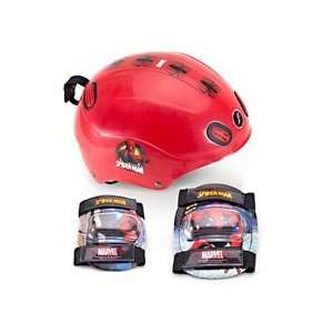 Spider man Boys Child Helmet and Pads Value Pack