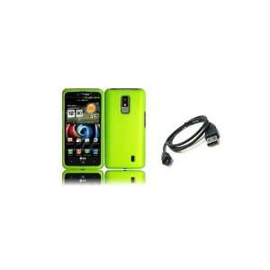 LG Spectrum (Verizon) Premium Combo Pack   Neon Green Hard