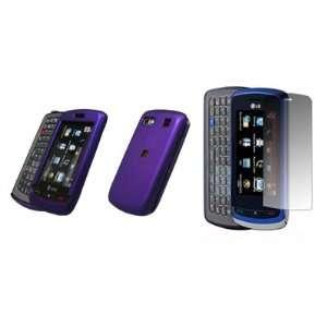 LG Xenon GR500   Premium Purple Rubberized Snap On Cover Hard Case