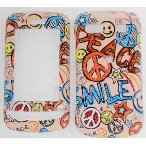 LG Xenon GR500  Peace Smile Brown   Hard Case/Cover