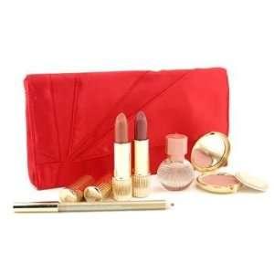 MakeUp Set ( Red Bag ) 1x Signature Shimmer Powder, 2x Lipstick, 1x