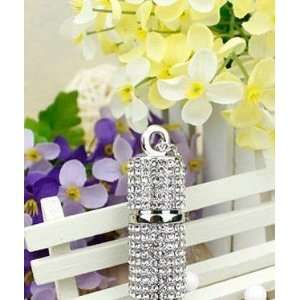 High Quality 4gb Crystal Lipstick Case Jewelry USB Flash Memory Drive