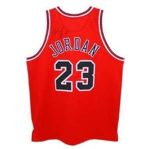 Michael Jordan Signed Autographed Red Nike Bulls Jersey