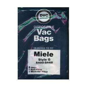 DVC Brand Miele Type G Paper Bag 5 Pack & 2 Filters  Home
