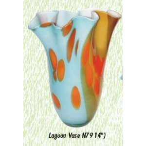 Long Lagoon Vase Hand Blown Modern Glass Vase
