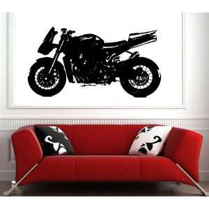 Wall Sticker Mural Vinyl Motorcycles Retrosbk Custom Bike