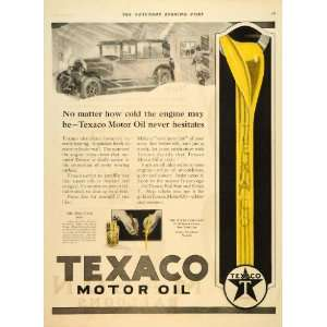 1926 Ad Texaco Texas Gasoline Motor Oil Engine Battery