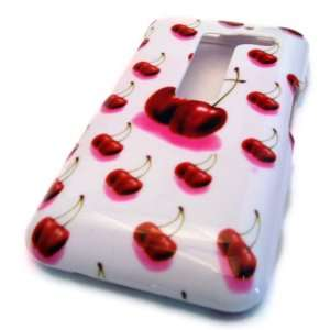 LG MS910 Esteem White Cherry Gloss Hard Case Cover Skin