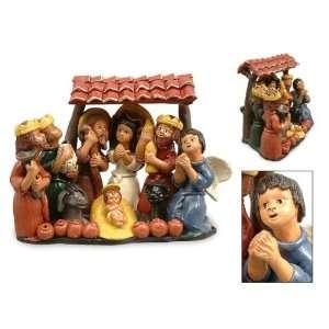 Ceramic nativity scene, Christmas with Kings