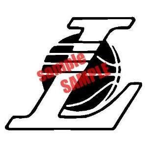 LOS ANGELES LAKERS L BALL NBA TEAM WHITE VINYL DECAL