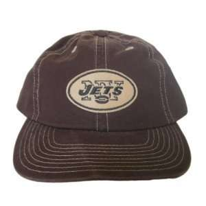 New York Jets Cotton Snapback NFL Hat Cap   Brown