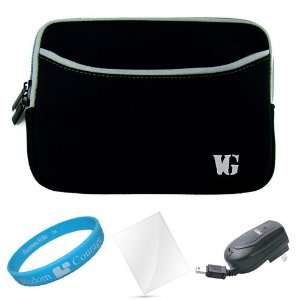 Black Neoprene Sleeve Carrying Case for  New Nook Touch
