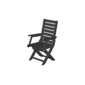 Polywood Recycled Plastic Captain Dining Chair Patio, Lawn & Garden